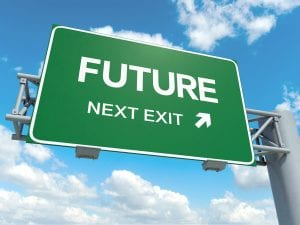 Sign with words Future next step. Referring to the future of SEO