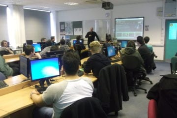 Students at a seo masterclass at chesterfield college