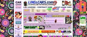 Lings Cars – A well known example of a VERY busy website.