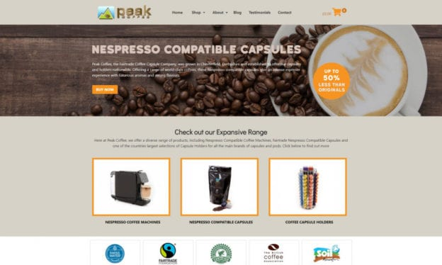 seo copilot Peak Coffee portfolio