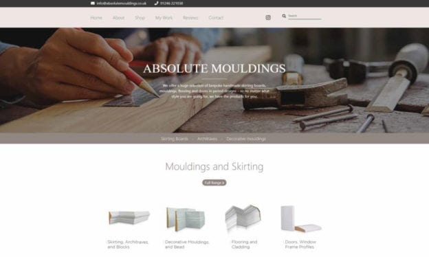 seo copilot absolute mouldings portfolio