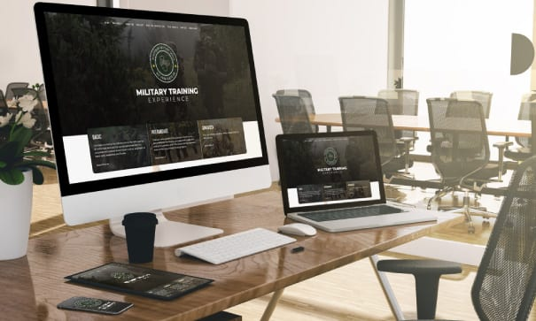 Military Skills website design on various devices