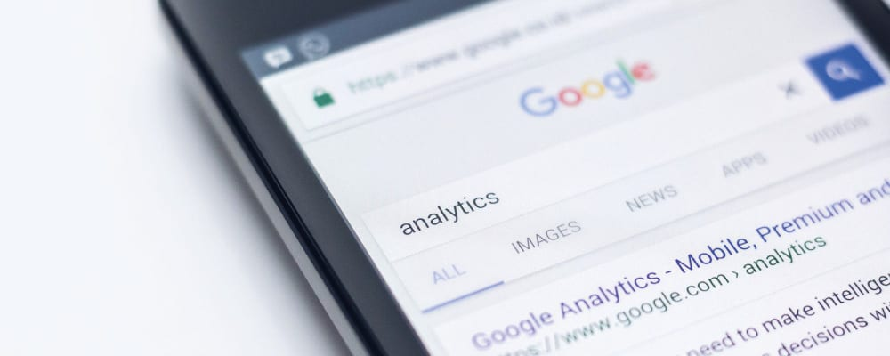 Google Analytics mobile search
