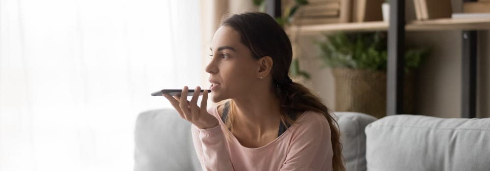 woman using voice search