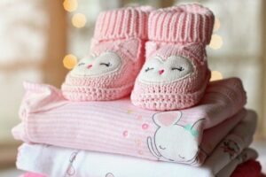 baby clothes washed folded