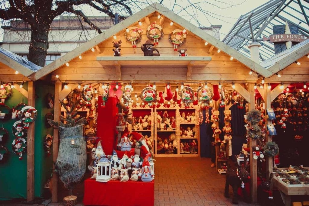 Renting a till can be great for seasonal work like this Xmas stall