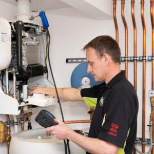 Andy working on Boiler